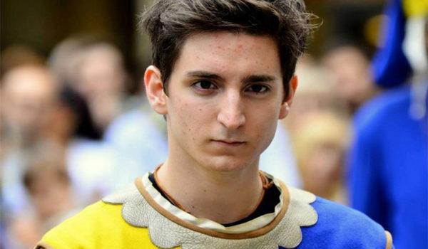 Elia Cicerchia sarà il cavaliere di Porta Tufilla per la Giostra d'Agosto