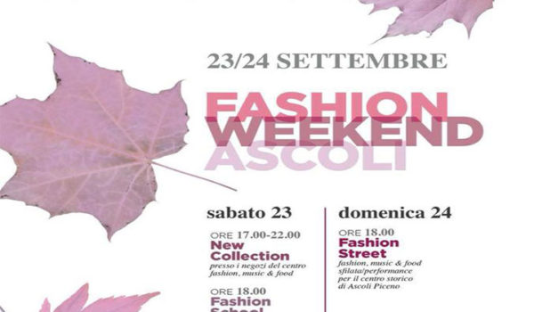 Presentata la Fashion Weekend Ascoli