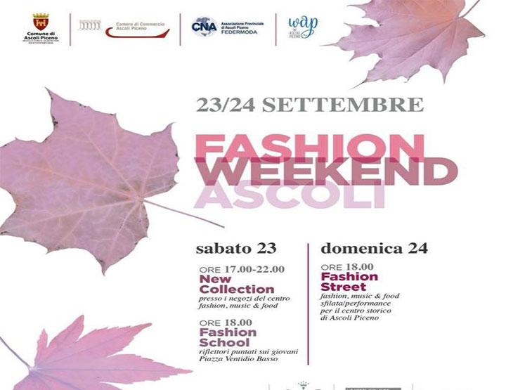 Presentata la Fashion Weekend Ascoli
