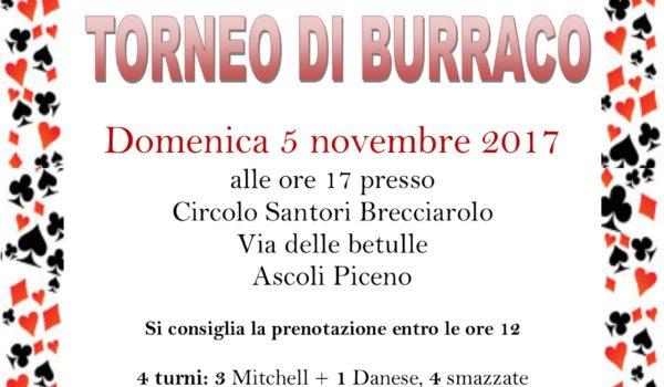 Ultima tappa del Campionato provinciale di Burraco, domenica 5 Novembre a Brecciarolo