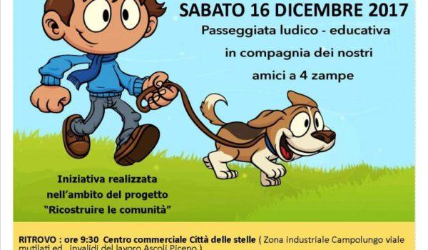 Sabato 16 Dicembre al via la prima edizione della Camminata a sei zampe