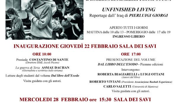 """Mostra Fotografica """"In Fuga Dalle Guerre"""" a Palazzo dei Capitani"""