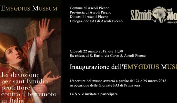 """Inaugurazione """"Emygdius Museum """""""