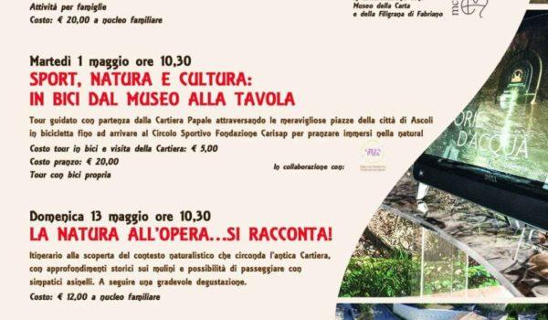 1 maggio:giornata in bici tra natura e cultura organizzata con i Musei della Cartiera Papale