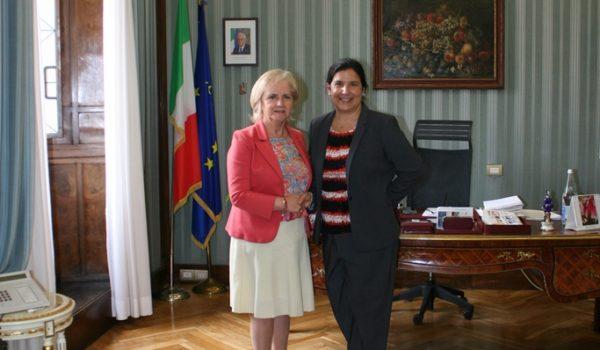 Visita del Console Statunitense Sig.ra Gillian Apfel