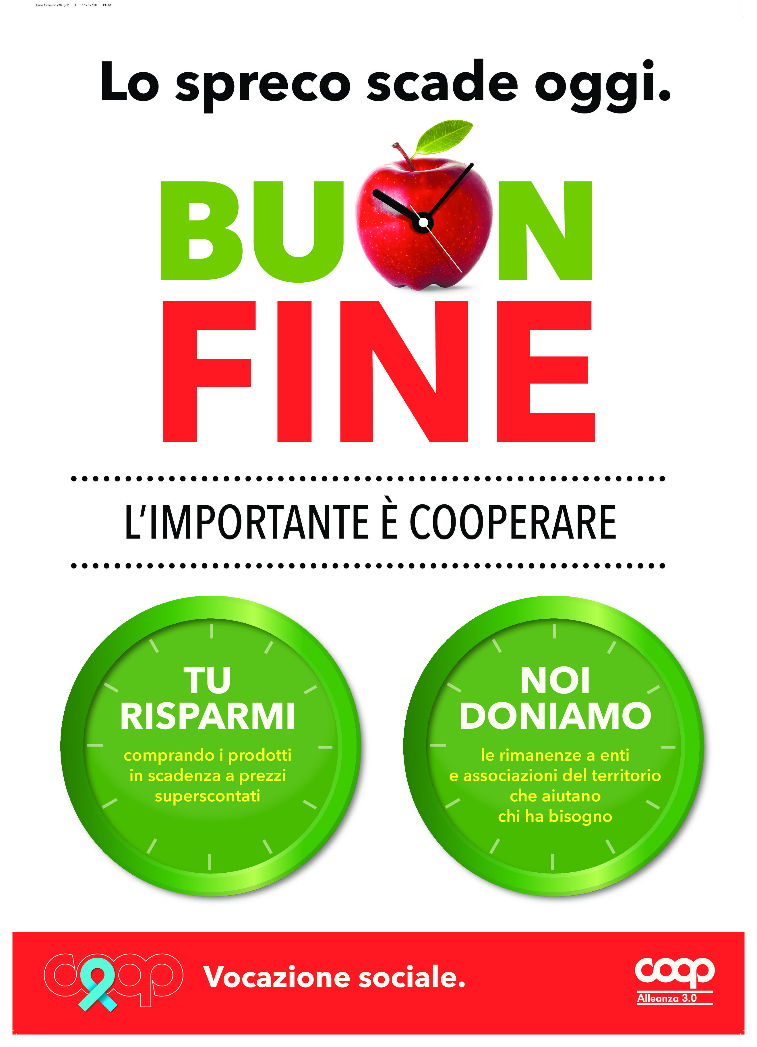 """COOP ALLEANZA 3.0 DICE NO ALLO SPRECO CON """"BUON FINE"""""""
