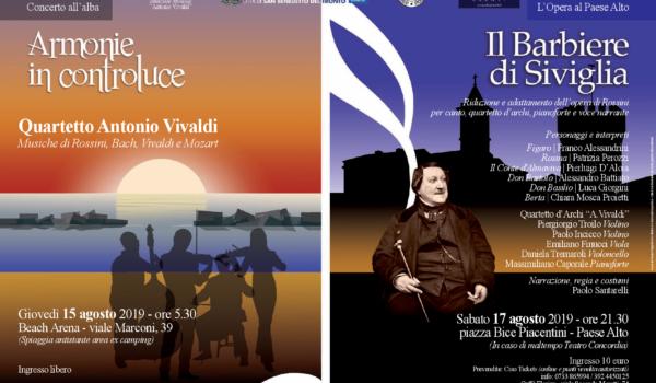 A San Benedetto un agosto all'insegna della musica di qualità con l'Istituzione Antonio Vivaldi