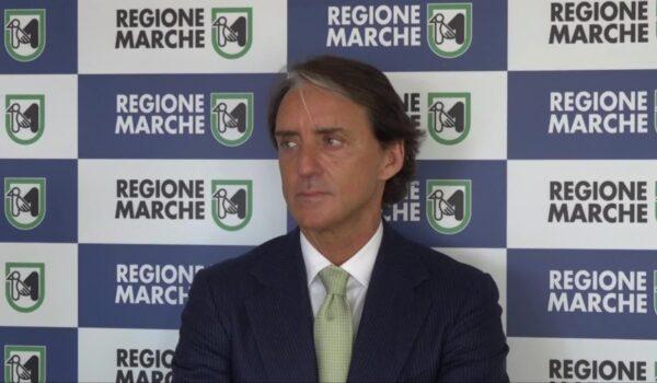 Roberto Mancini testimonial della Regione Marche